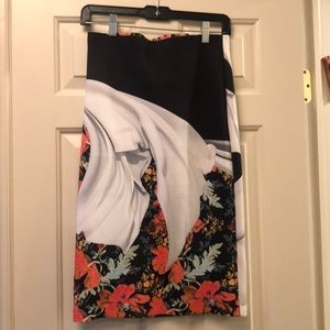 Clover Canyon Pencil Skirt Multi Floral